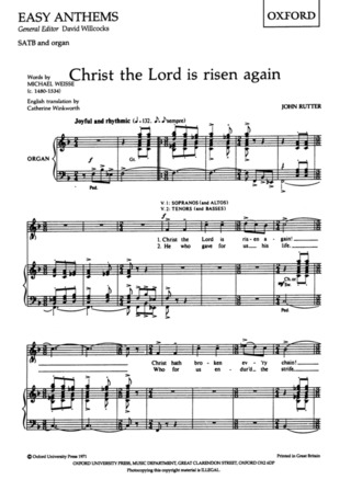 John Rutter: Christ the Lord is Risen Again