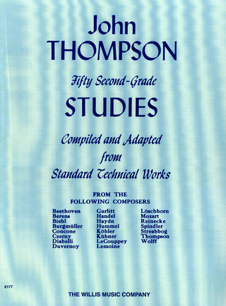 John Thompson: Thompson, J Modern Course Fifty Second Grade Studies Piano