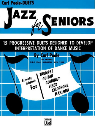 Poole Carl: Jazz For Seniors - 15 Progressive Duets