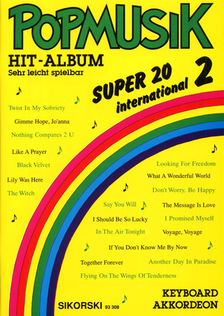 Popmusik Hit-Album Super 20 – International 2