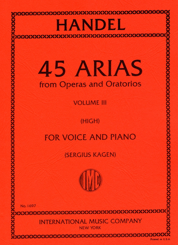 Georg Friedrich Händel: 45 Arias from Operas and Oratorios vol.3