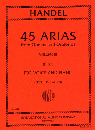 George Frideric Handel: 45 Arias from Operas and Oratorios 3