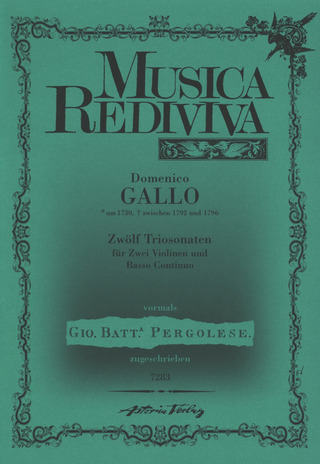 Gallo Domenico: Zwölf Triosonaten