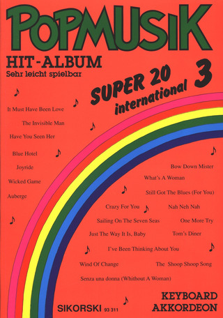 Popmusik Hit-Album Super 20: International 3