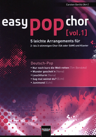 easy pop chor 1: Deutsch-Pop