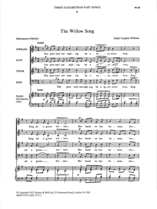Ralph Vaughan Williams: The Willow Song