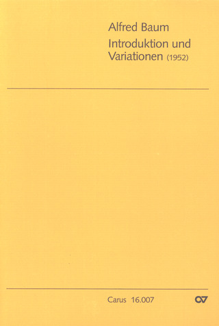 Baum Alfred: Introduktion und Variationen (1952)