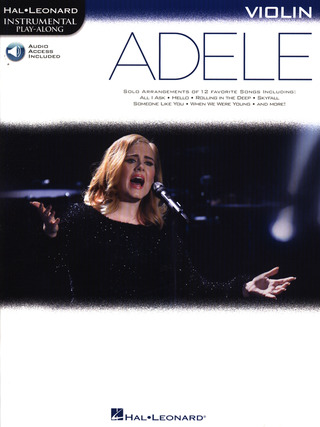 Adele Adkins: Hal Leonard Instrumental Play-Along: Adele - Violin (Book/Online Audio)