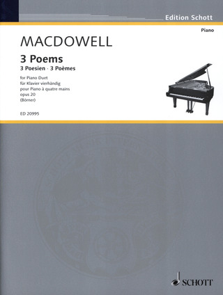Edward MacDowell: 3 Poems op. 20