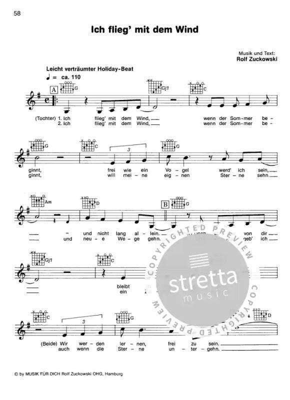 Wind akkorde im text und Auf dem