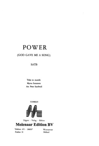 Summers Myrna: Power (God Gave Me A Song)