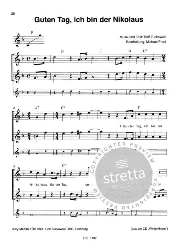 Lied Guten Tag Ich Bin Der Nikolaus