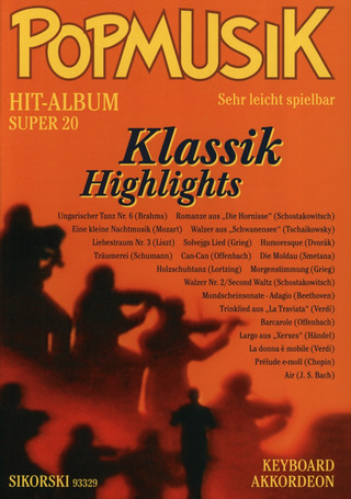 Popmusik Hit-Album Super 20: Klassik Highlights