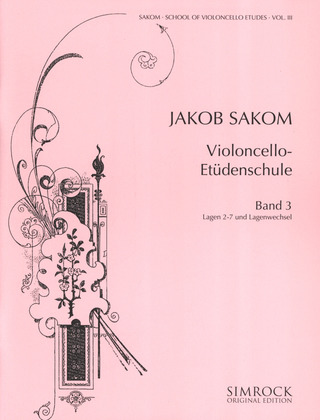 Jakob Sakom: School of Violoncello Etudes 3