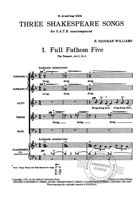 Ralph Vaughan Williams: 3 Shakespeare Songs (1951) (1)