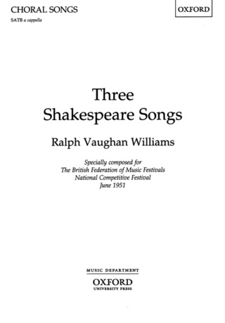Ralph Vaughan Williams: 3 Shakespeare Songs (1951)