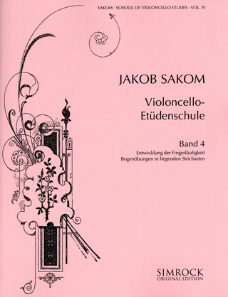 Jakob Sakom: School of Violoncello Etudes 4