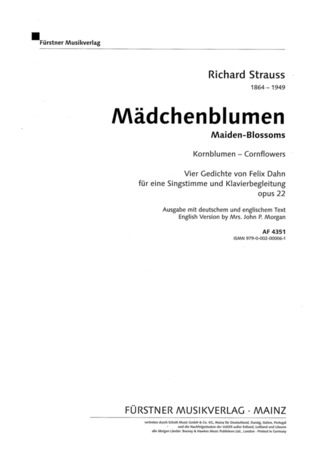 Richard Strauss: Kornblumen