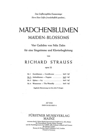 Richard Strauss: Mohnblumen