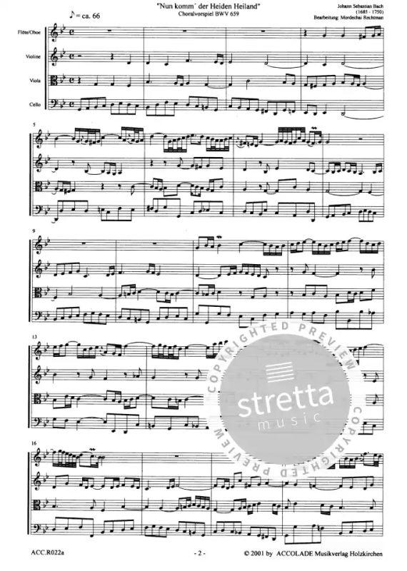 Nun Komm Der Heiden Heiland Bach