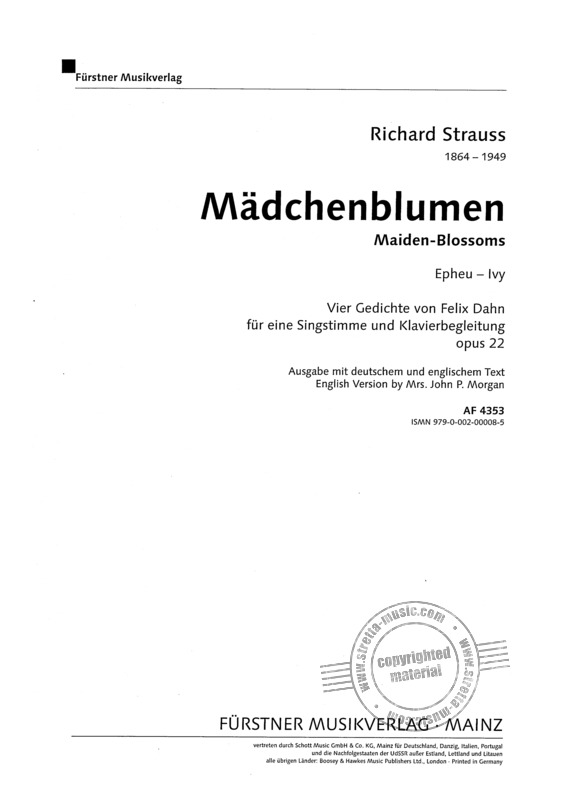 Richard Strauss: Efeu