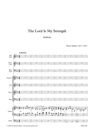 Henry Kimball Hadley: The Lord Is My Strength