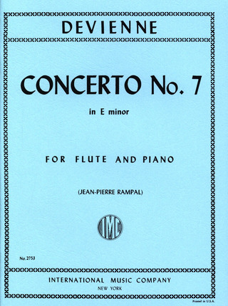 François Devienne: Concerto No. 7 in E minor