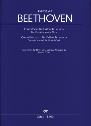 Ludwig van Beethoven: Five Pieces WoO 33 and Grenadier's March WoO29 for Musical Clock