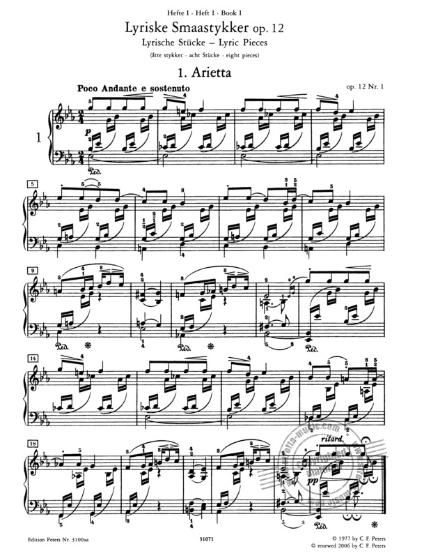 Edvard Grieg: Piano Works 1 (1)