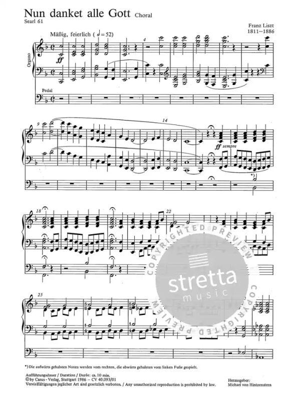 Nun Danket Alle Gott From Franz Liszt Buy Now In The Stretta Sheet Music Shop
