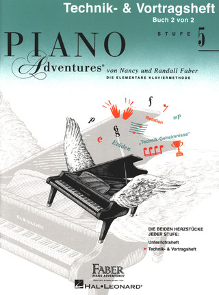 Nancy Faber et al.: Piano Adventures: Technik- & Vortragsheft 5