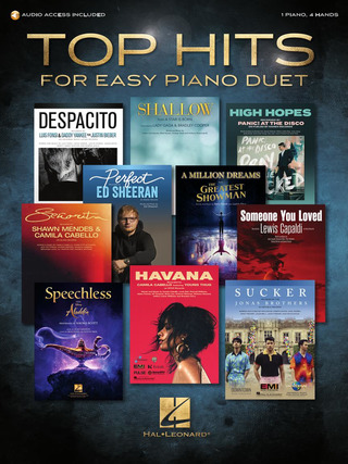 Top Hits for Easy Piano Duet