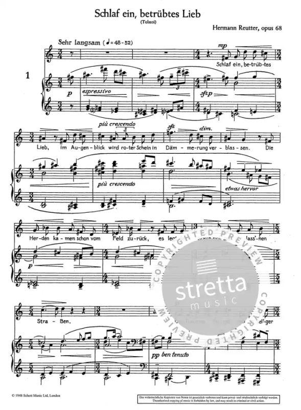 Russische Lieder op. 68 von Hermann Reutter | im Stretta