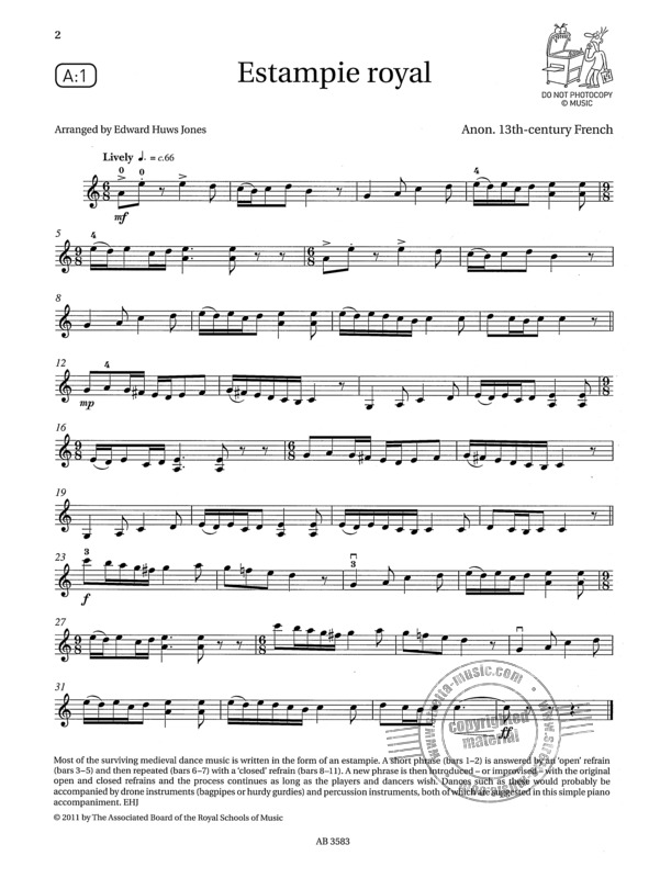 Violin Exam Pieces 2012-2015 Grade 7 Score Part 2 CDs