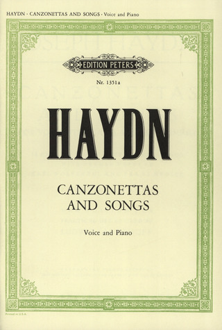 Joseph Haydn: Canzonettas and Songs