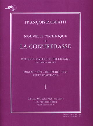 François Rabbath: Nouvelle technique de la contrebasse 1