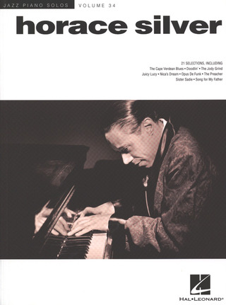 Horace Silver: Jazz Piano Solos 34: Horace Silver