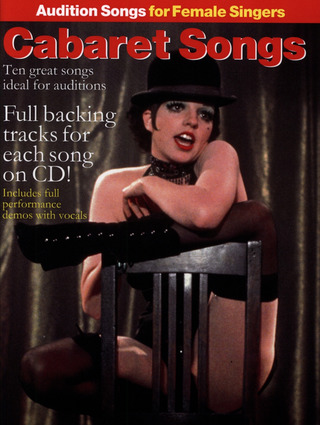 Audition Songs For Female Singers Cabaret Songs Bk/Cd
