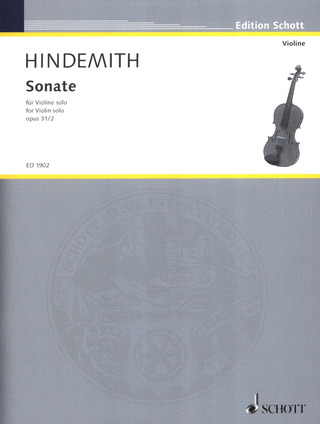 Paul Hindemith: Sonate op. 31 Nr. 2