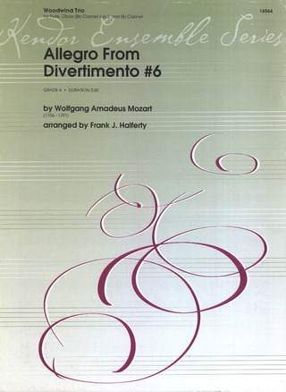 Wolfgang Amadeus Mozart: Allegro from Divertimento #6