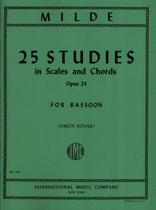 Ludwig Milde: 25 Studies in Scales and Chords op. 24