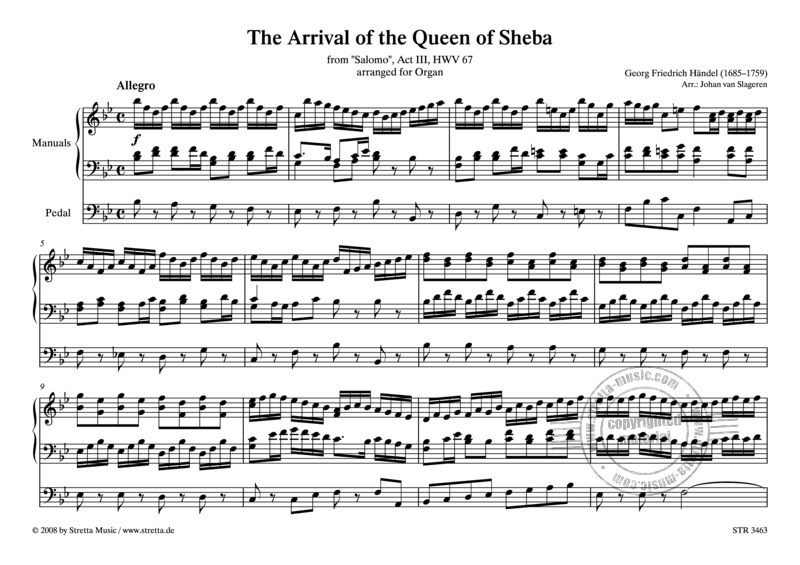 Georg Friedrich Händel: The Arrival of the Queen of Sheba (0)