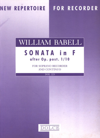 William Babell: Sonate F-Dur Op 1/10