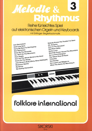 Willi Nagel: Melodie & Rhythmus, Heft 3: Folklore international