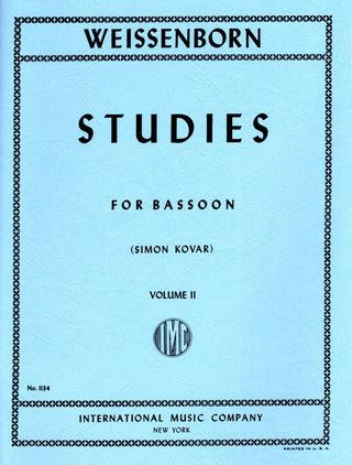 Julius Weissenborn: Studies for Bassoon 2
