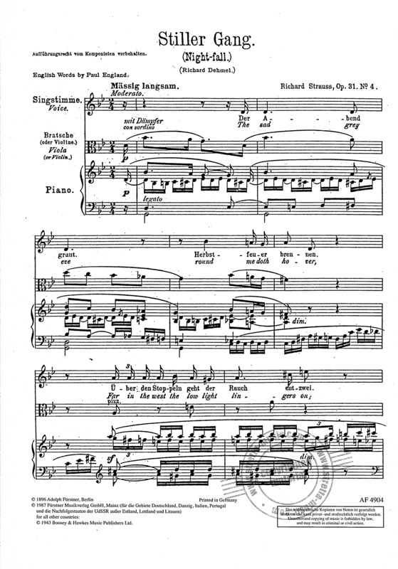 Richard Strauss: Stiller Gang op. 31/4 (1895)