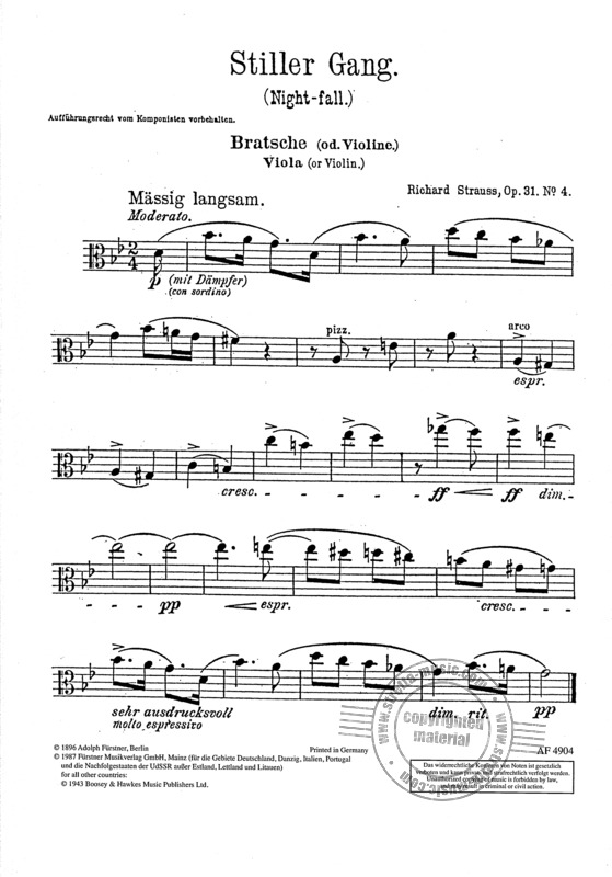 Richard Strauss: Stiller Gang op. 31/4 (1895) (2)