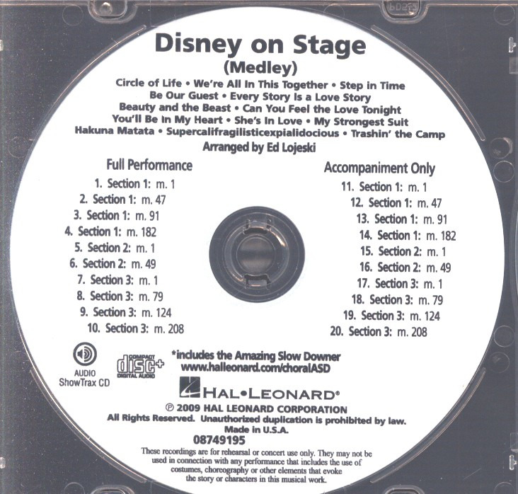 Disney on Stage (Medley)
