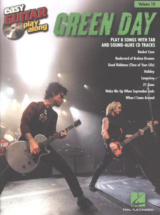 Green Day: Easy Guitar Play-Along Volume 10: Green Day (Easy Guitar Tab Book/Cd)