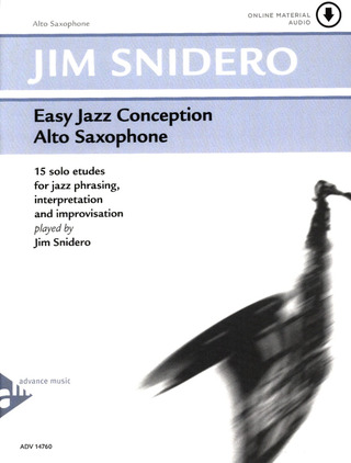 Jim Snidero: Easy Jazz Conception – Alto Saxophone